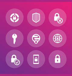 security icons secure transaction online safety vector image vector image