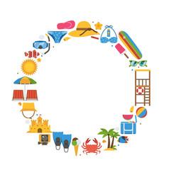 summer beach frame background vector image