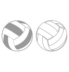 volleyball ball it is black icon vector image vector image