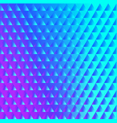 brilliant blue pink pattern of triangles vector image vector image