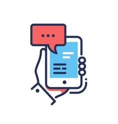 online chat - modern line design single vector image vector image