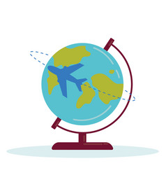planet earth plane vector image