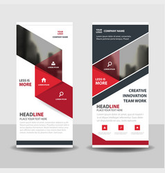 red black triangle business roll up banner flat vector image
