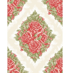 vintage seamless floral wallpaper vector image
