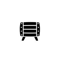 wooden barrel flat icon vector image