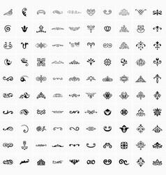 100 design elements vector image