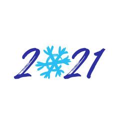 2021 brush snowflake vector image