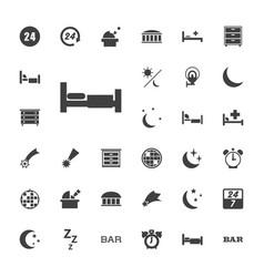 33 night icons vector