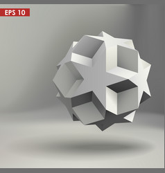 3d geometric shape vector image