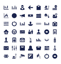 49 control icons vector