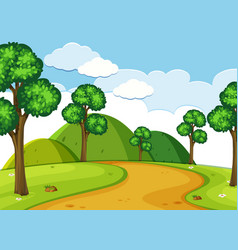 A nature road landscape vector