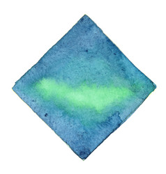 Abstract emerald green and deep blue square vector