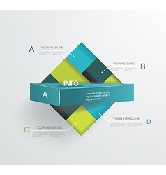 Abstract modern frame for business futuristic vector