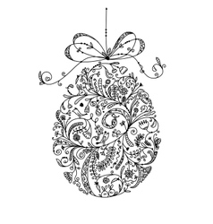 Abstract vintage easter egg for your design vector image