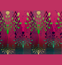 african print fabric ethnic handmade ornament vector image