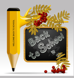 Back to school design with pencil as tree leaves vector