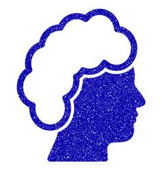 blonde profile icon grunge watermark vector image