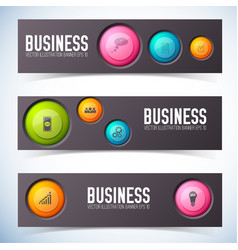 business buttons banners set vector image