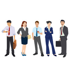 business worker in flat style vector image
