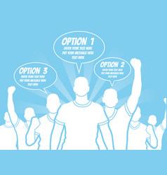 businessman option template step ranking blue 3 vector image
