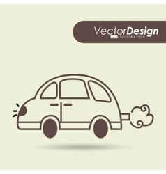 car drawn design vector image