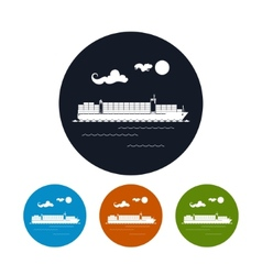 Cargo container ship icon vector image