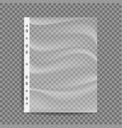 cellophane business file a4 size empty vector image