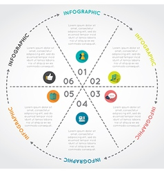Circular Chart Infographic Template vector image
