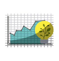 colorful silhouette of growing and financial risk vector image vector image