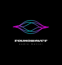 Colorful sound wave logo design template vector