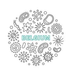coronavirus in belgium circular covid-19 vector image