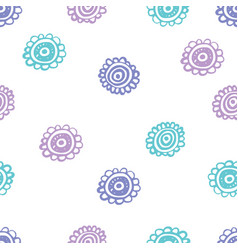 Doodle flowery seamless pattern vector