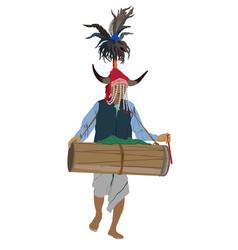 dussera celebration jagdalpur tribe vector image