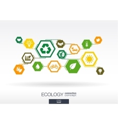 Ecology Hexagon abstract background vector image