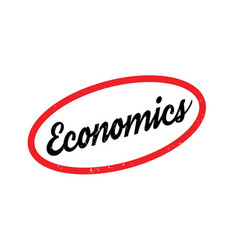 Economics rubber stamp vector