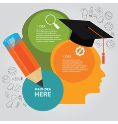 Education info graphic idea design template vector