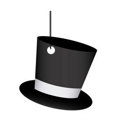 Elegant hanging hat icon vector