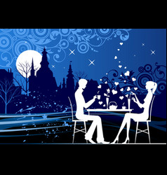 evening restorant vector image