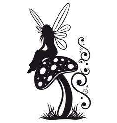 Fairy mushroom autumn vector
