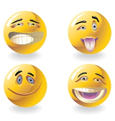 Four emoticons vector