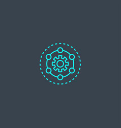 framework concept blue line icon simple thin vector image