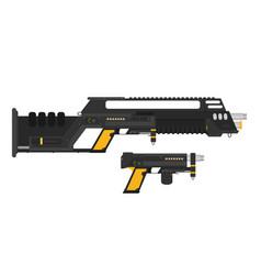 Futuristic sci-fi assault beam rifle and pistol vector