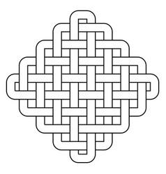 geometric ornamental symbol vector image