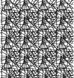 Geometric stripy seamless pattern black and white vector image