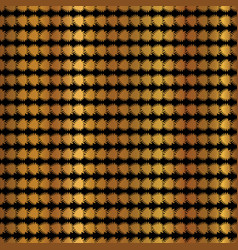 Gold copper geometric stripes pattern hand vector
