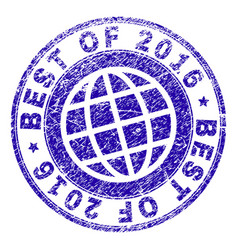 Grunge textured best of 2016 stamp seal vector