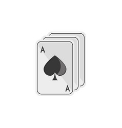 isolated casino cards flat design vector image