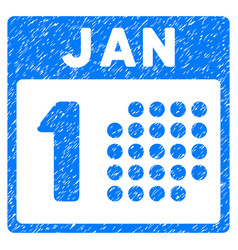 January first grunge icon vector