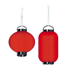 japan style lantern on a white background vector image