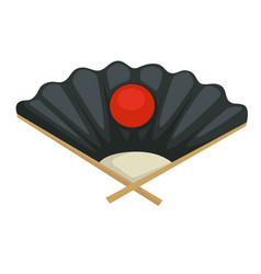 Japanese fan country symbol and culture geisha vector